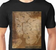 Fantasy Map of New York City: Gritty Parchment Unisex T-Shirt