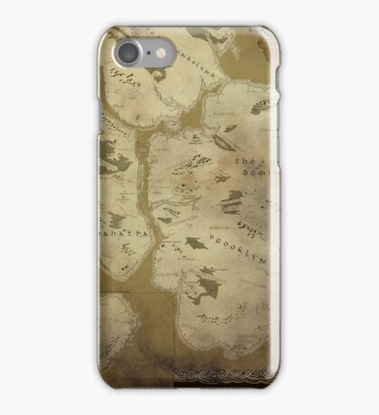 Fantasy Map of New York City: Dirty Parchment iPhone Case/Skin