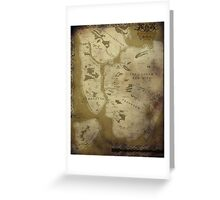 Fantasy Map of New York City: Dirty Parchment Greeting Card