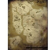 Fantasy Map of New York City: Dirty Parchment Photographic Print