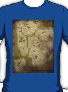 Fantasy Map of New York City: Dirty Parchment T-Shirt