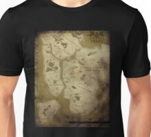 Fantasy Map of New York City: Dirty Parchment Unisex T-Shirt