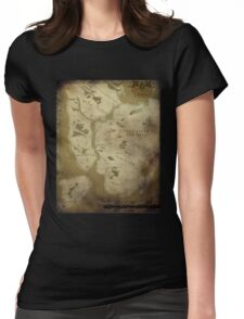 Fantasy Map of New York City: Dirty Parchment Womens Fitted T-Shirt