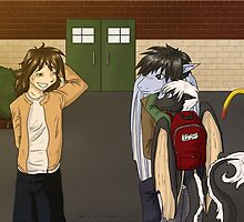School Pick-up - Art Trade with Dawgjr by Bethany Angelstar