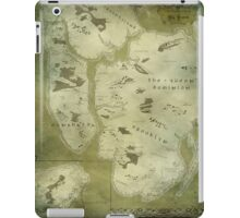 Fantasy Map of New York City: Green Parchment iPad Case/Skin