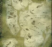 Fantasy Map of New York City: Green Parchment by MidgardMaps