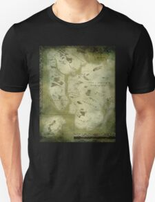 Fantasy Map of New York City: Green Parchment T-Shirt