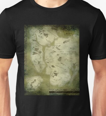 Fantasy Map of New York City: Green Parchment Unisex T-Shirt