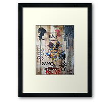 In memory Basquiat Framed Print