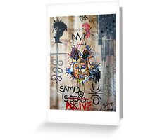 In memory Basquiat Greeting Card