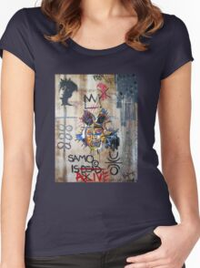 In memory Basquiat Women's Fitted Scoop T-Shirt