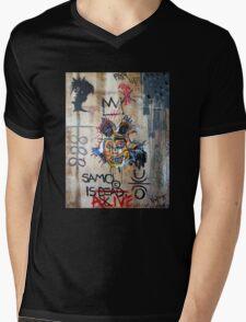 In memory Basquiat Mens V-Neck T-Shirt
