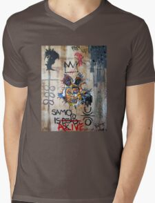 In memory Basquiat Mens V-Neck T-Shirt