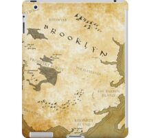 Fantasy Map of Brooklyn: Gold Parchment iPad Case/Skin