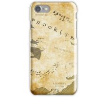 Fantasy Map of Brooklyn: Gold Parchment iPhone Case/Skin