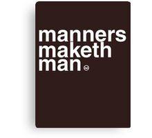 Kingsman: Manners Maketh Man Canvas Print