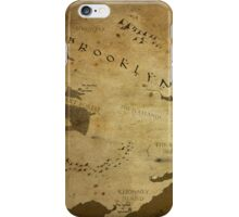 Fantasy Map of Brooklyn: Brown Parchment iPhone Case/Skin