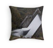 Dam wall at Pine Tier  Throw Pillow