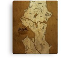Fantasy Map of Seattle: Brown Parchment Canvas Print