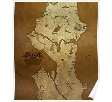 Fantasy Map of Seattle: Brown Parchment Poster