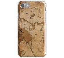 Fantasy Map of Seattle: Gritty Parchment iPhone Case/Skin