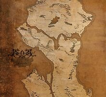 Fantasy Map of Seattle: Gritty Parchment by MidgardMaps