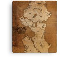 Fantasy Map of Seattle: Gritty Parchment Canvas Print