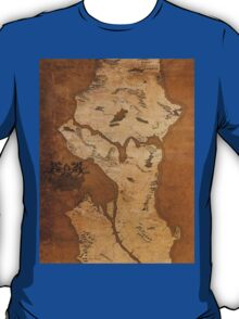 Fantasy Map of Seattle: Gritty Parchment T-Shirt