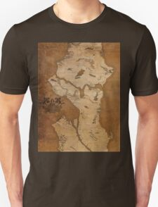 Fantasy Map of Seattle: Gritty Parchment Unisex T-Shirt