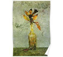 Autumnal Flowers Poster
