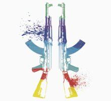 Rainbow AK-47s by Beau Tobler