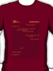 101 words - Gold For The Masses T-Shirt