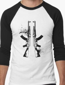 AKs in Black Men's Baseball ¾ T-Shirt