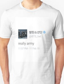 bts really army Unisex T-Shirt