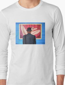 Man with bowler in front of nude Long Sleeve T-Shirt