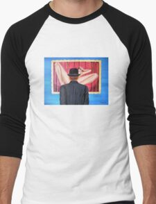 Man with bowler in front of nude Men's Baseball ¾ T-Shirt