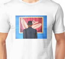 Man with bowler in front of nude Unisex T-Shirt