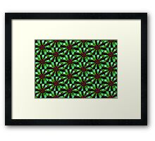 Flower Power in Green Framed Print