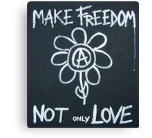 Make freedom - Anarchy Flower Canvas Print