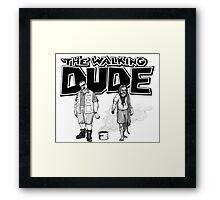 The Walking Dude Framed Print