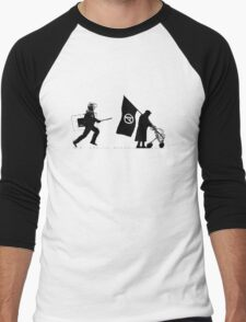 Police & Granny Men's Baseball ¾ T-Shirt