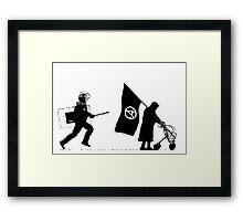 Police & Granny Framed Print