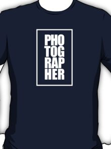 Photographer (white) T-Shirt