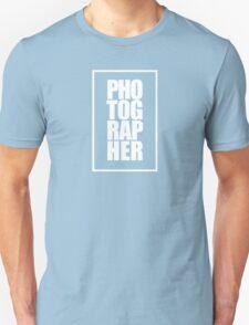 Photographer (white) T-Shirt