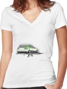 Honda Civic  Women's Fitted V-Neck T-Shirt