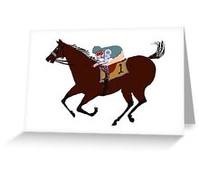The Racehorse - Horse Racing Apparel & Gifts Greeting Card