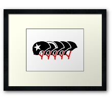 Roller Derby helmets (Black design) Framed Print