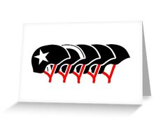 Roller Derby helmets (Black design) Greeting Card
