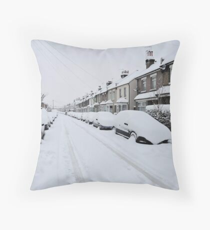 Snow In South London Throw Pillow