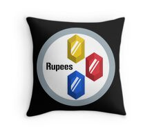 Lake Hylia Rupees Throw Pillow